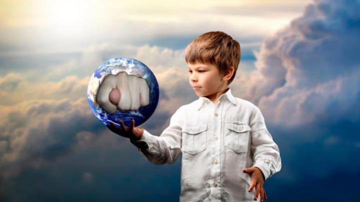 çocuk dünya fotoshop
